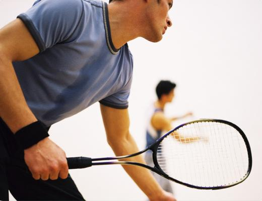 Image of 2 men playing racquetball